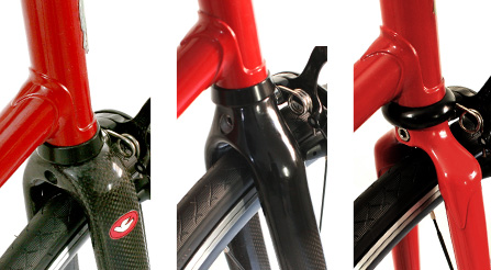 photo of Iride bicycle fork choice. full carbon fiber